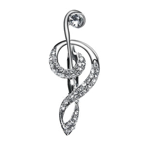 Minimalistic Treble Clef Brooch Pin