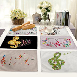 Musical Notes Cotton Table Mat