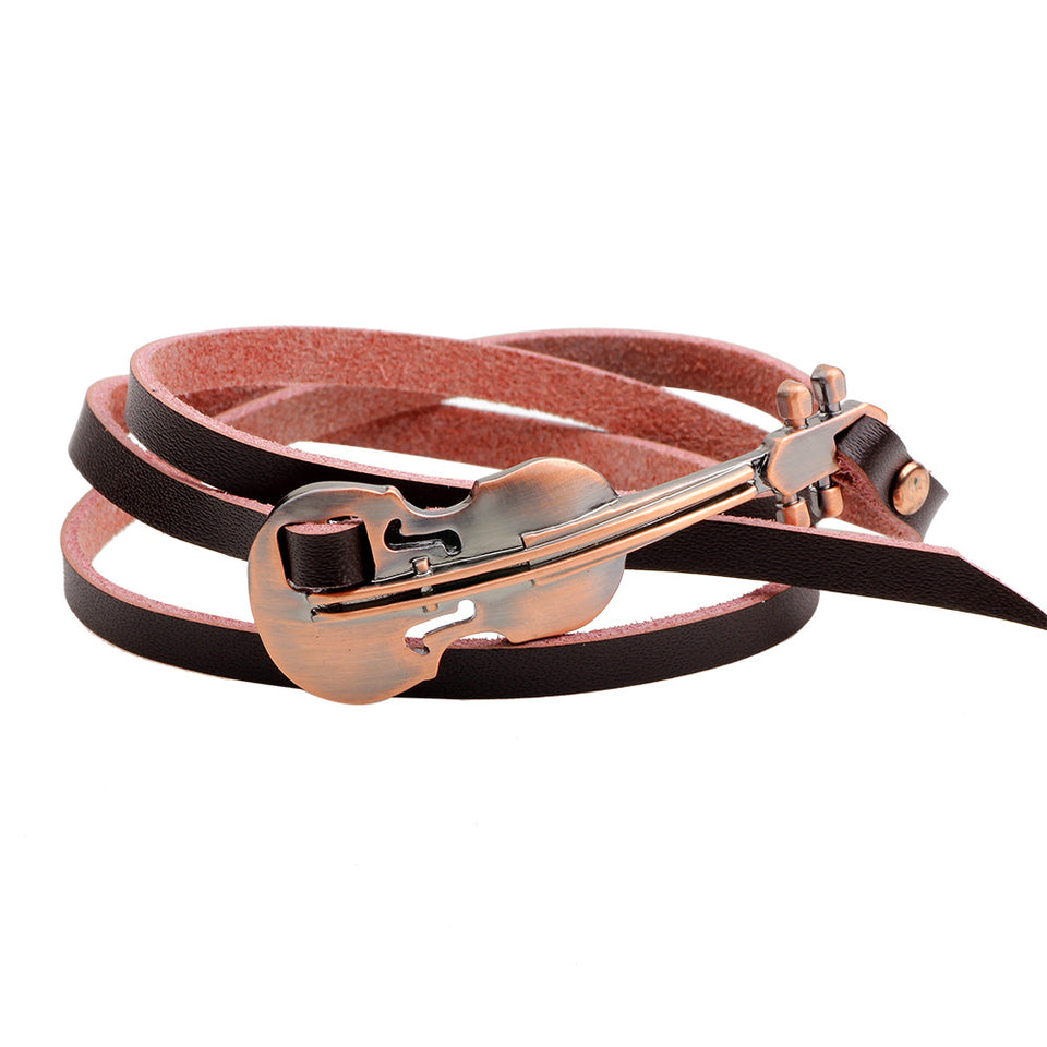 Leather Violin Bracelet