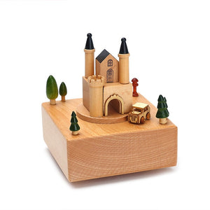 Carousel Wooden Musical Boxes, Perfect Retro Gift