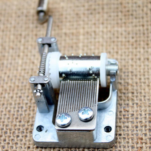 Music Box Movement Play Set 18 Tones Mechanical Music Box Hand Crank Various Tunes