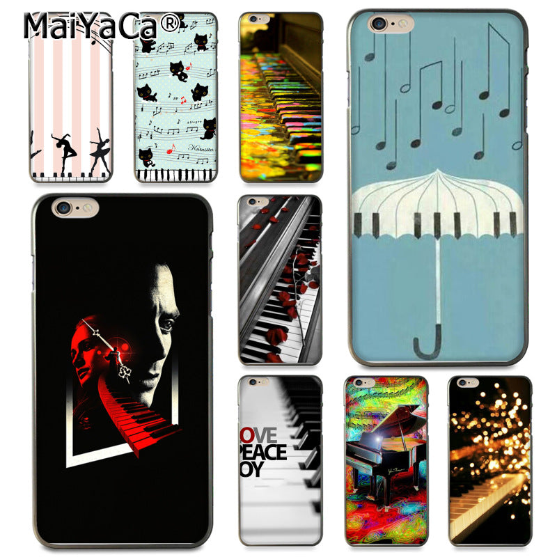 MaiYaCa Colorful Piano Sheet Music Phone Case For Apple iPhone 8 7 6 6S Plus X 5 5S SE 5C