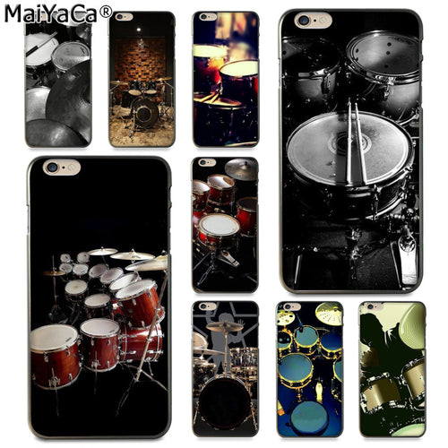 MaiYaCa Drum Themed Phone Case For Apple iPhone 8 7 6 6S Plus X 5 5S SE 5C Cover