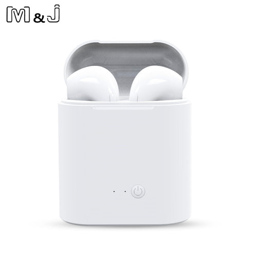 M&J i7s TWS Mini Wireless Bluetooth Stereo Earbud Headset With Charging Box Mic For All Smart phone