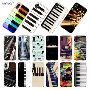 MaiYaCa New Luxury Fashion Piano Keys Phone Case For iPhone x 5 5s 6 6s 7 8 Plus