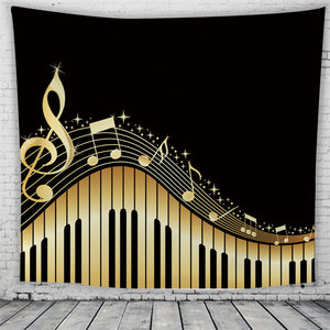 Wall Handing Musical Note Beach Towel/Wall Carpet
