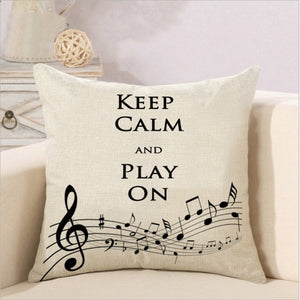Cushion Cover Music Notation Design