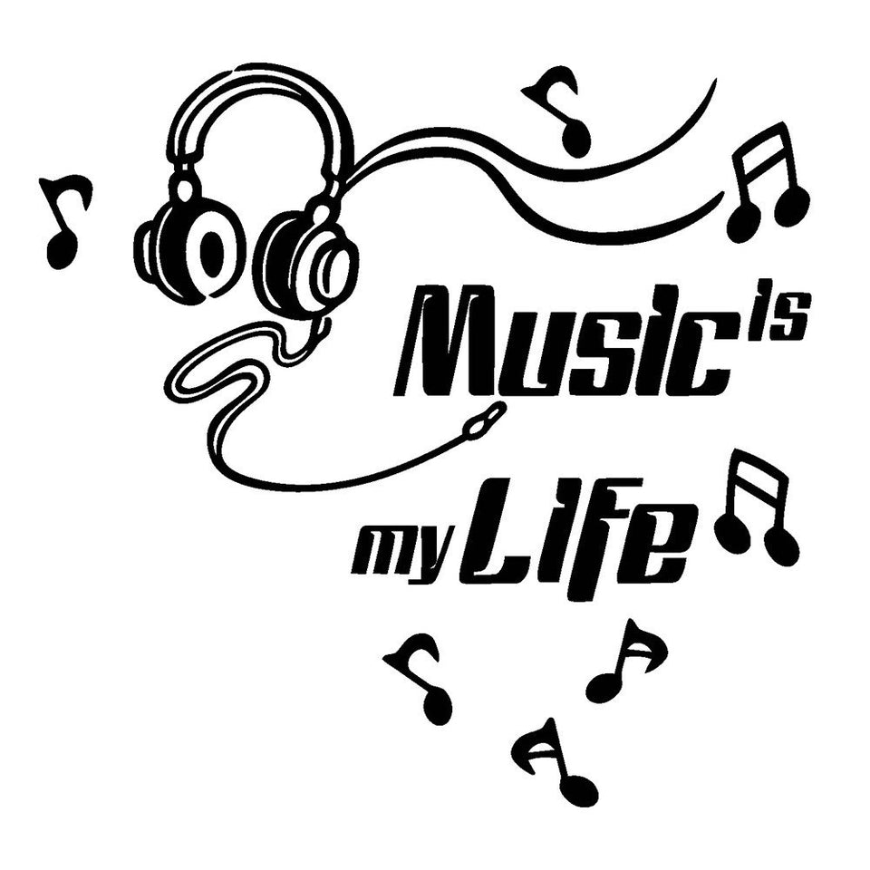 Music Is My Life Removable Art Vinyl Mural