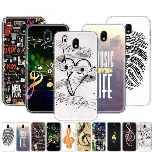 Phone Case Music Is My Life For Samsung Galaxy J3 J5 J7 2017 J527 J727 J327 J330 J530 J730 PRO