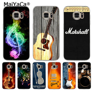MaiYaCa Music Lover Cool Drums Guitar Music Note Phone Case For Samsung S5 S6 S7 Edge S8 Plus S6 Edge Plus S3 S4