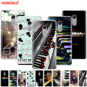 HAMEINUO Music Piano Keys Phone Case for Xiaomi Redmi 5 4 1 1s 2 3 3s Pro PLUS Redmi Note 4 4X 4A 5A