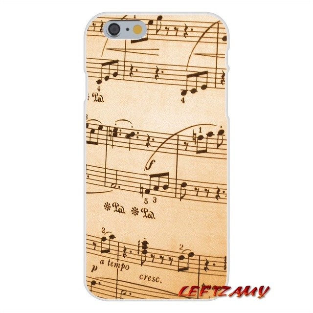 Music Score Musical Notes Phone Case For Samsung Galaxy A3 A5 A7 J1 J2 J3 J5 J7 2015 2016 2017
