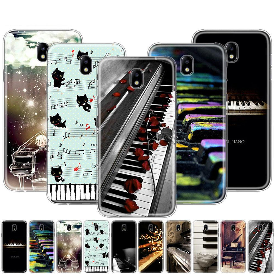 Piano Keys Phone Case For Samsung Galaxy J3 J5 J7 2017 J527 J727 J327 J330 J530 J730 PRO