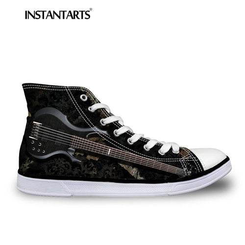 INSTNTARTS 3D Guitar Print Woman's Vulcanize Shoes