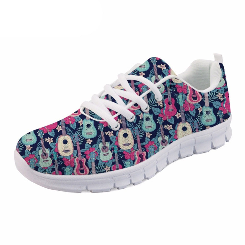 NOISYDESIGNS Female Spring Summer flat Shoes With Guitar Print