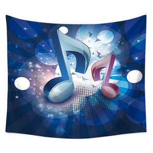 Musical Note Printed Tapestry Beach Towel/Wall Hanging
