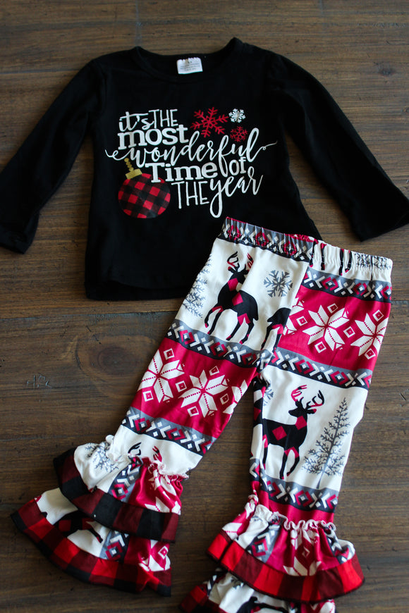 It's The Most Wonderful Time of the Year Shirt and Pants Set