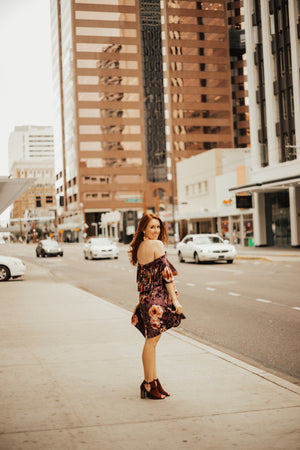 Tasha Velvet Flower Dress
