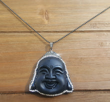 Buhhda Pendant With Encrusted Stone Necklace