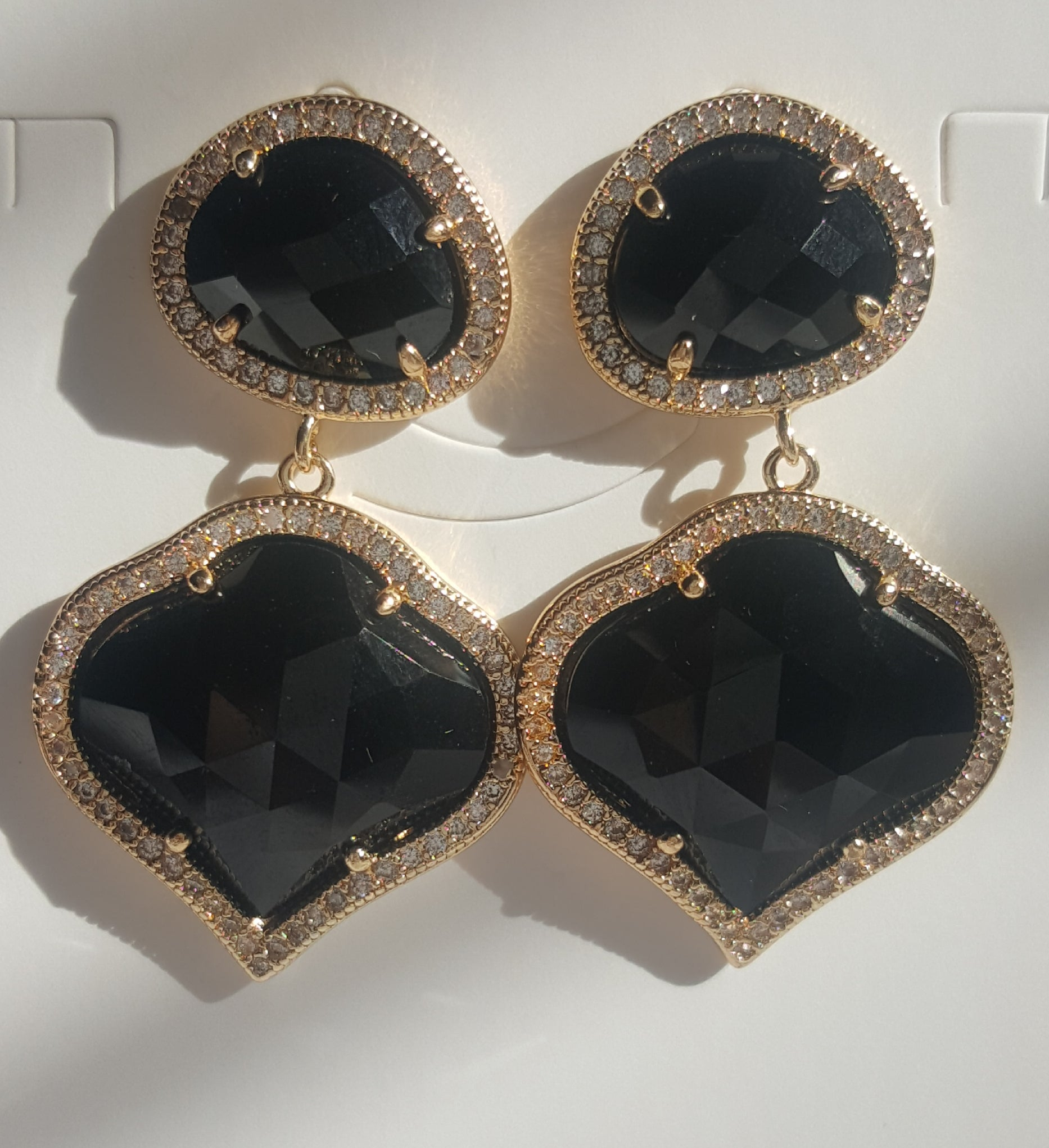 designer earrings mainro two tone gold diamond