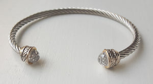 Designer Inspired Cable Bracelet In Stainless Steel