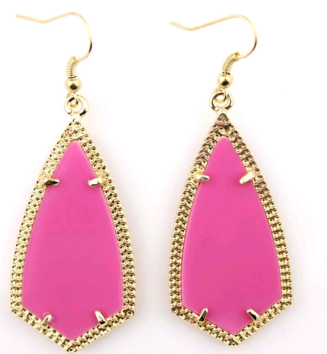 Pink Drop Inspired Earrings