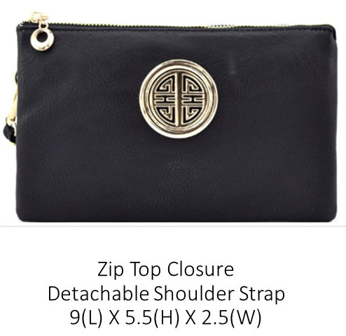 A Designer Crossbody Purse With Logo Accent