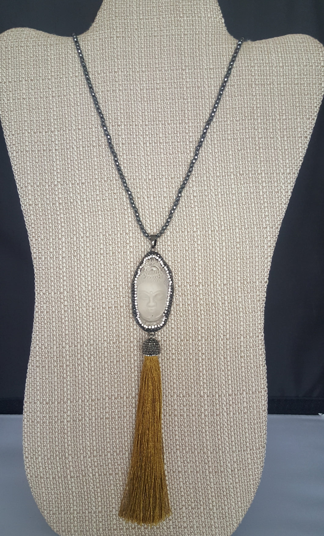 Long Necklace With Tassel Buhhda Pendant
