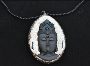 Large Buddha Pendant On Beaded Chain