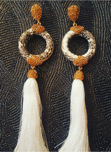 Long Tassel Earrings By Katherine Kelly Jewelry Collection