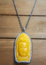 "Buddha Pendant On 9"" Hematite Chain- Gorgeous!"