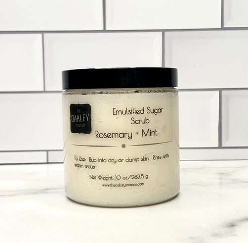 Rosemary + Mint Emulsified Sugar Scrub