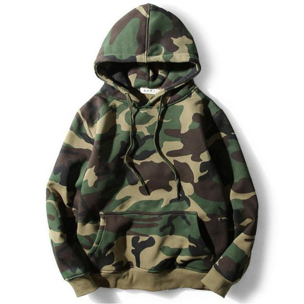 Army Green Camouflage Hoodie-HipHopAesthetics