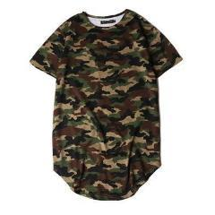 Round Bottom Hip Hop Camouflage T-Shirt-HipHopAesthetics