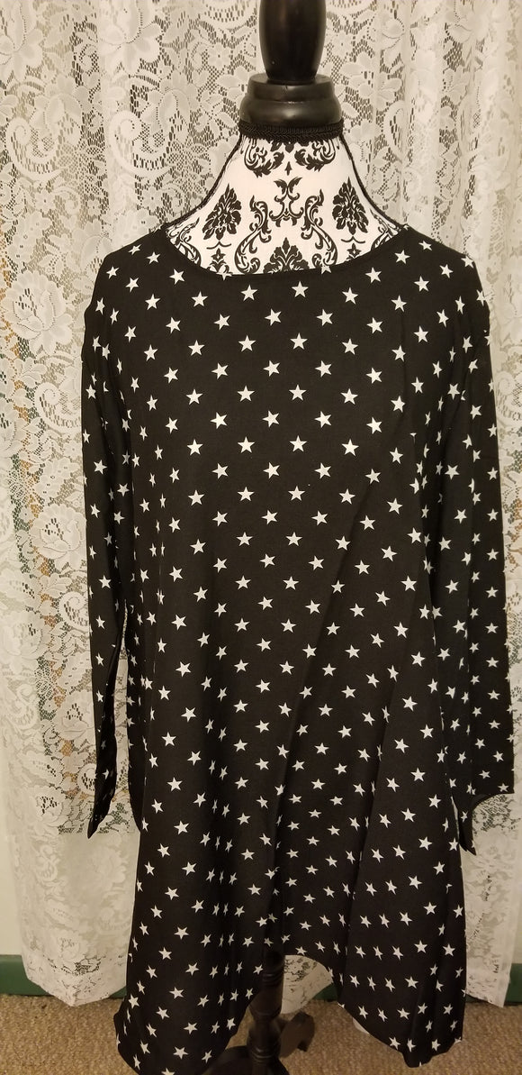 Star Print Tunic Dress