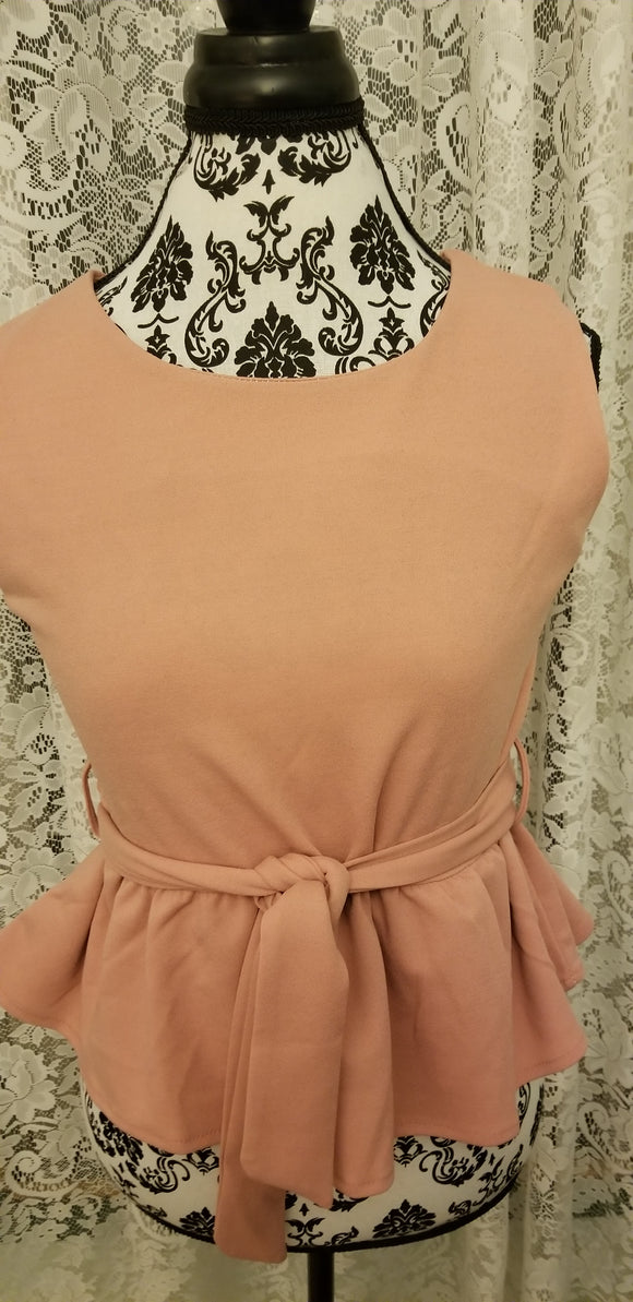 Peplum Waist Top & Shorts