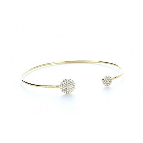 Pave Bangle with Small and Medium Circles