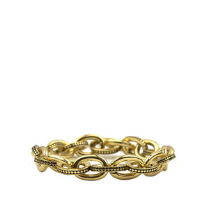 Embossed Link Stretch Bracelet