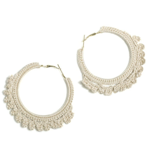Emme Crocheted Hoop Earrings