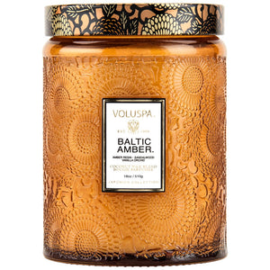 Baltic Amber Large Glass Jar 18 oz Candle