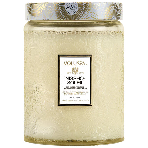 Nissho Soleil Large Glass Jar 18 oz Candle