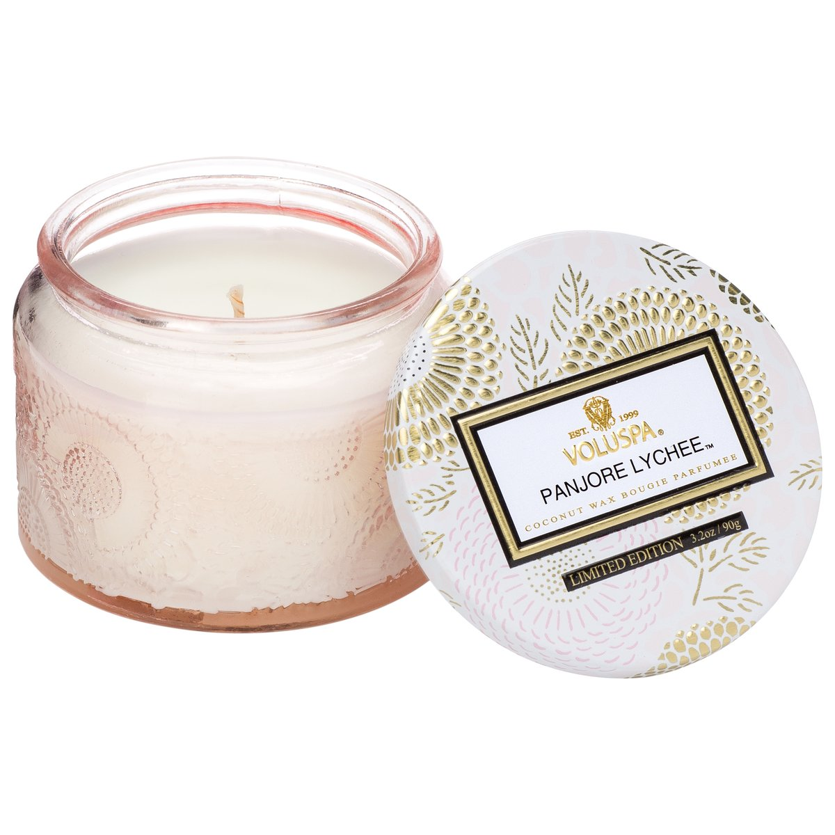 Panjoree Lyche Small Glass Jar 3.2 oz Candle