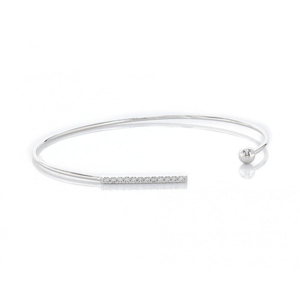 Bead and cubic zirconia bar bracelet