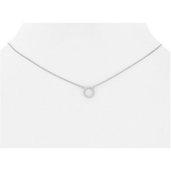 Mini Pave Open Circle Neclace