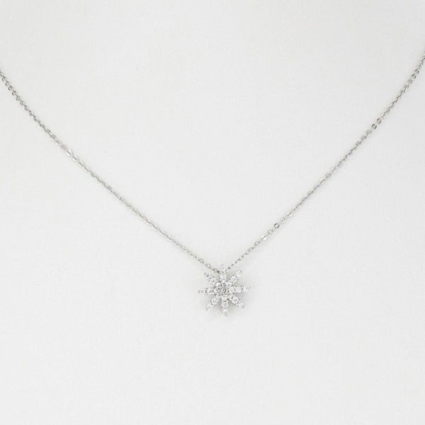 Single Flower Pave Necklace
