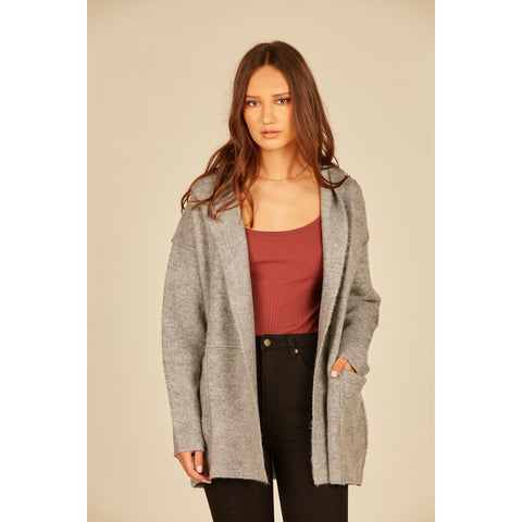 Open Front Over sized Hooded Cardigan