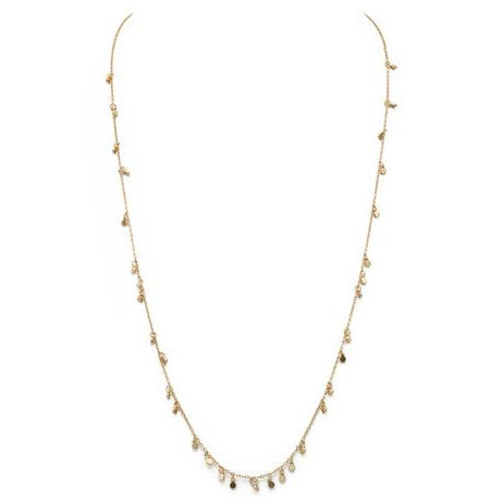 Delicate Long Gold Shimmer Necklace