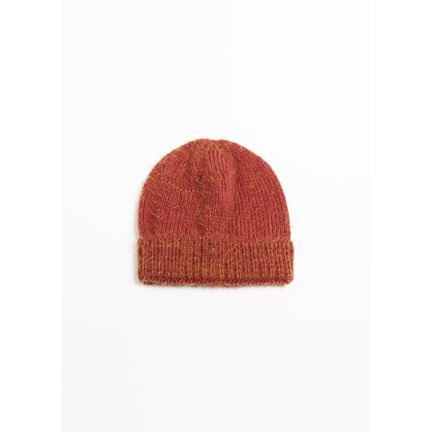 Two Tone Eyelash Beanie Red