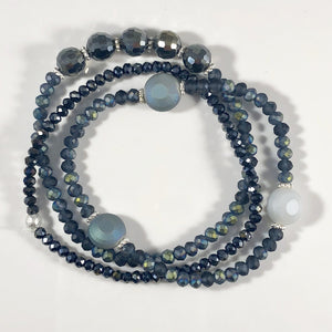 Hues of Blue Beaded Bracelet