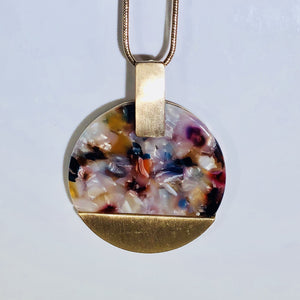 Multi Colored Celluloid Pendant